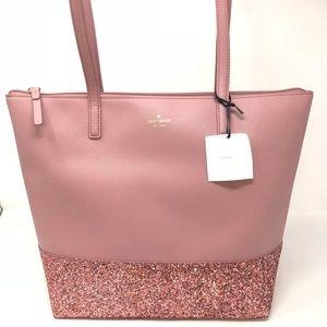 Kate Spade Greta Court Pink Glitter Tote Bag